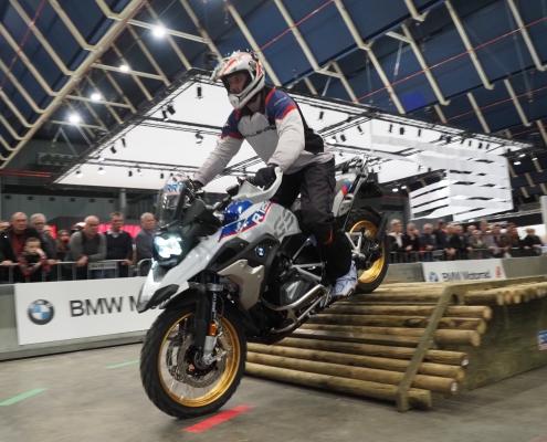 Indoor BMW GS Trophy Motorbeurs Utrecht 2020 met BERRT obstakels