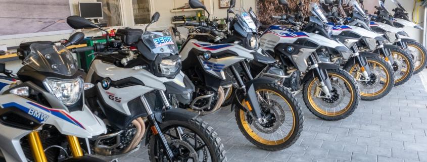 BERRT BMW GS huurmotoren startklaar voor trainingen en reizen in 2020
