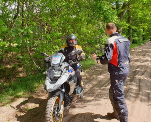 BERRT Allroad motortraining - instructies offroad remmen voor beginners
