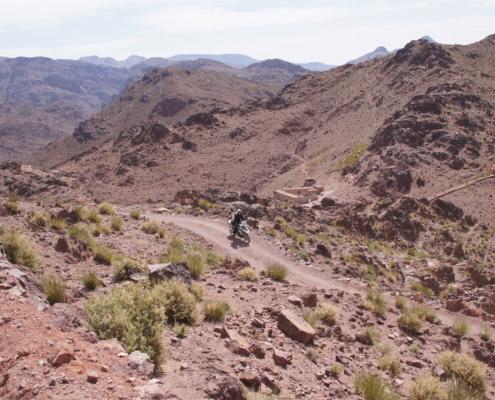 Zeer afwisselende landschappen in de allroad motorreis Marokko Atlas met BMW R 1250 GS huurmotor met BERRT