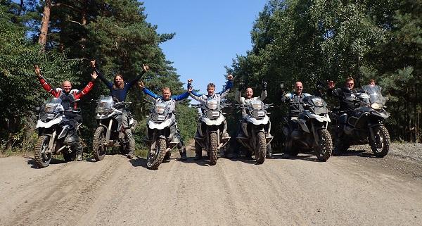 Ondersteboven van Afrika offroad training BERRT Fürstenau groepsfoto