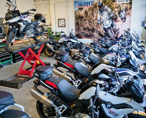 BERRT BMW GS huurmotoren voor trainingen, ritten en reizen in 2021