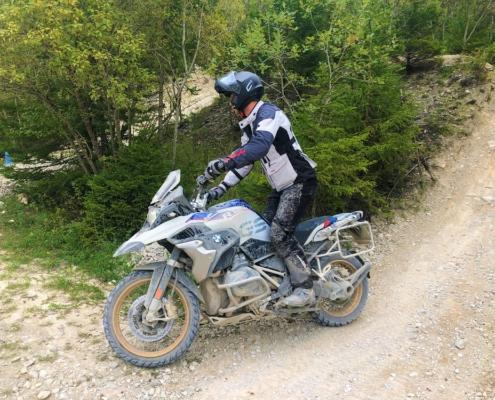 BERRT Hechlingen Intermediate Training offroad bochten oefenen in BMW Motorrad Enduro Park