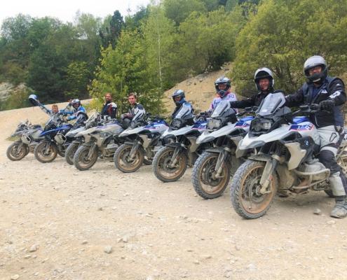 BERRT Hechlingen Intermediate Training offroad toffe sfeer onder motorrijders in BMW Enduro Park