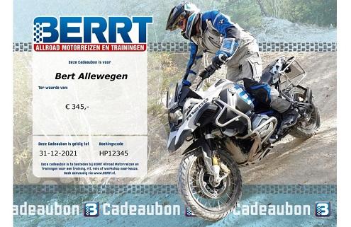 Cadeaubon - BERRT Reizen Ritten en Trainingen offroad voor de allroad motorrijder